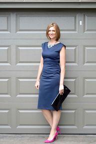 Navy Blue dress by D