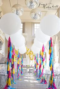 A balloon lined aisl...