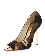 camo pumps with gold