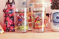 mario bros glass