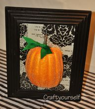 3D framed pumpkin
