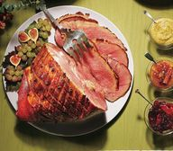 Maple-glazed ham