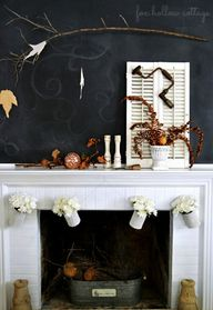 Fall Fireplace Mante