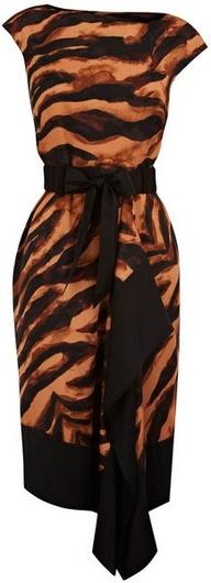 Karen Millen Soft Zebra Tie Dye Print Dress