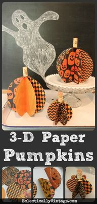 Make 3D Paper Pumpki