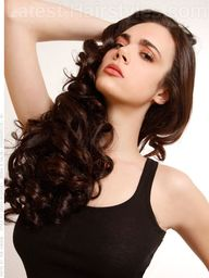 Long Curly Hair With