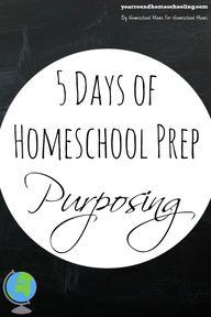 5 Days of Homeschool