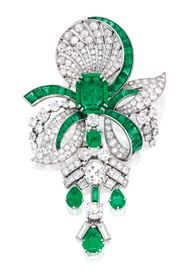 Emerald,diamond broo