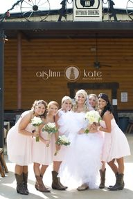 Blush bridesmaids dr