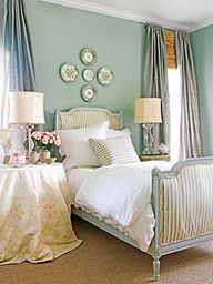 bedroom with blue an