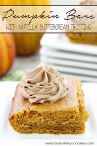 These Pumpkin Bars w