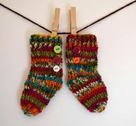Newborn Crochet Sock