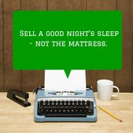 Sell a good night's