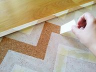 #DIY chevron cork bo