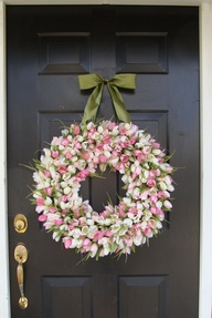 Spring Wreath with S