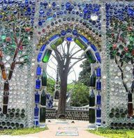 Recycled glass bottl