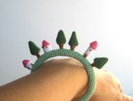 Village crochet brac
