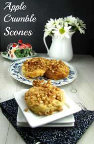 Apple Crumble Scones
