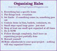 All 10 Organizing Ru