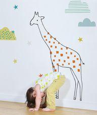 XL Giraffe Wall Deca