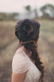mermaid wedding hair
