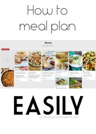 How to Meal Plan Eas