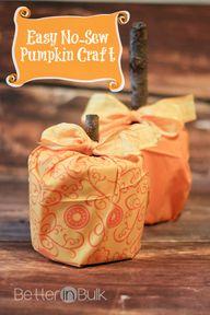 Easy No-Sew Pumpkin