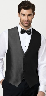 Dessy Paragon Vest Groomsmen Accessories in Black
