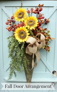 DIY Fall Door Arrang