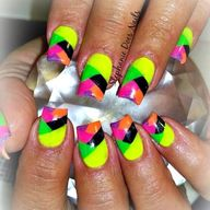 Disco nails!  By @st
