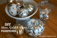 metallic pumpkins -