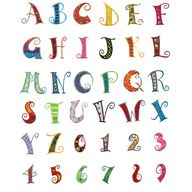 Curly Alphabet Appli
