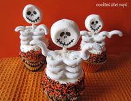 Fun skeleton cupcake
