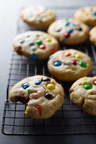 Big Soft M&M Cookies