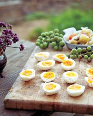 soft boiled eggs w/