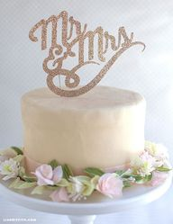 Sparkly DIY Cake Top