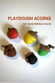 play dough acorns -