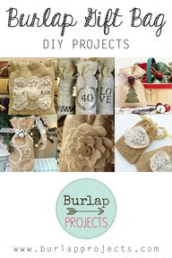 Burlap Gift Bag DIY