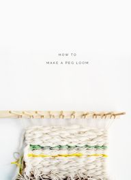 DIY: peg loom