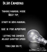 DSLR Camera tips:  l