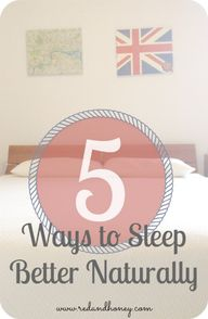 5 Ways to Sleep Bett