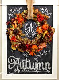 Fall wreath displaye