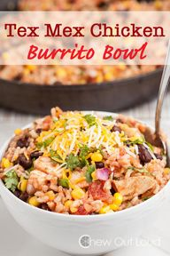 Tex Mex Chicken Burr