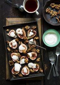 Baked Figs With Rose