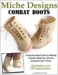 """Combat Boots 18"""" Dol"""