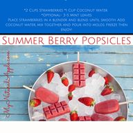 Summer berry popsicl...