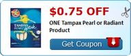 $0.75 off ONE Tampax