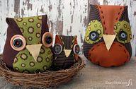 DIY fabric owls - Ch