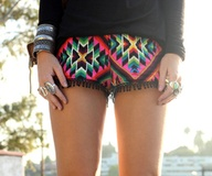 These bright geometric shorts are so fun!