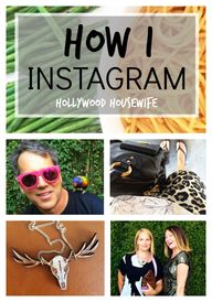 How I Instagram (or,